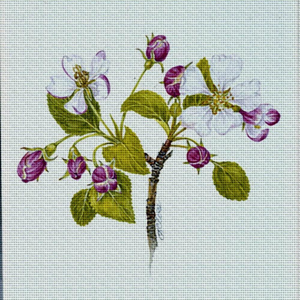 Art Needlepoint Botanical Trivet Kit by Tina Close