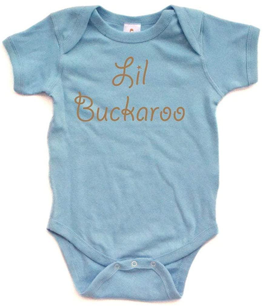 Apericots Adorable Lil Buckaroo Short Sleeve Baby Bodysuit