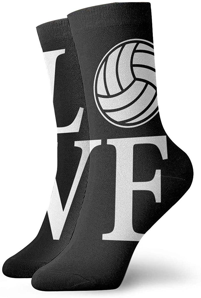 Love Volleyball Short Crew Socks Dress Socks Athletic Socks