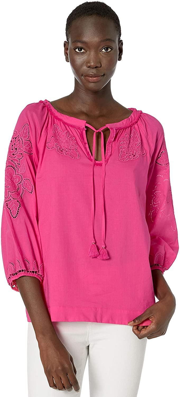 Trina Turk Women's Ojai Lace Embroidery Top