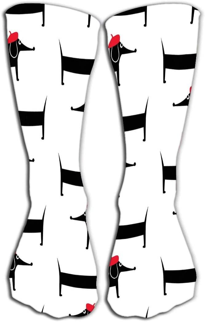 YILINGER Print Women's Men's Knee High Socks Athletic Over-The-Calf Tube 19.7