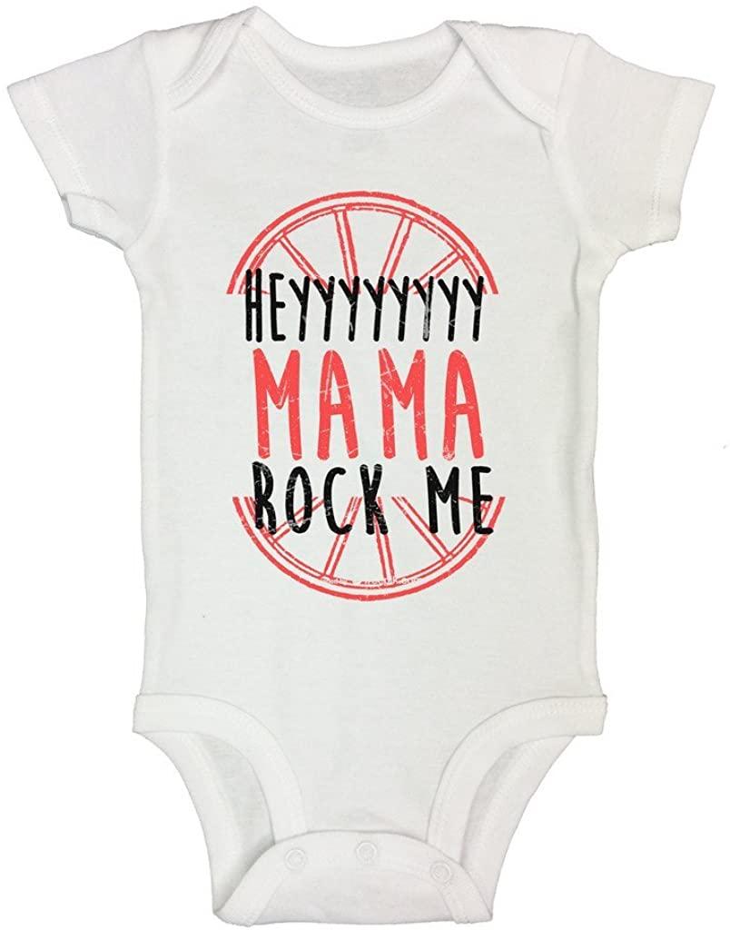 "Funny Onesie ""Hey Mama Rock Me II"" Newborn Baby Toddler Shirt - Funny Threadz"