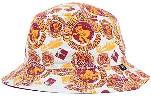 Cleveland Cavaliers Adult Large/X-Large XL NBA Authentic Bravado Bucket Maroon & White Hat Cap - Best Fits 7 1/2 Through 7 3/4