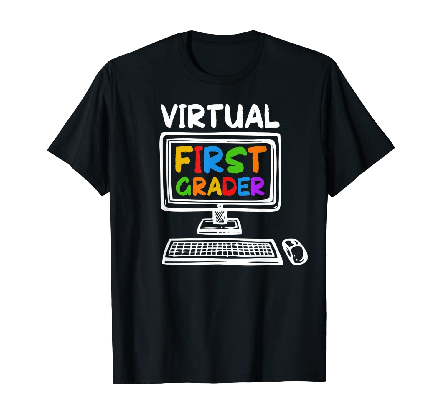 Virtual First Grade Funny Distance Learning Back to School T-Shirt