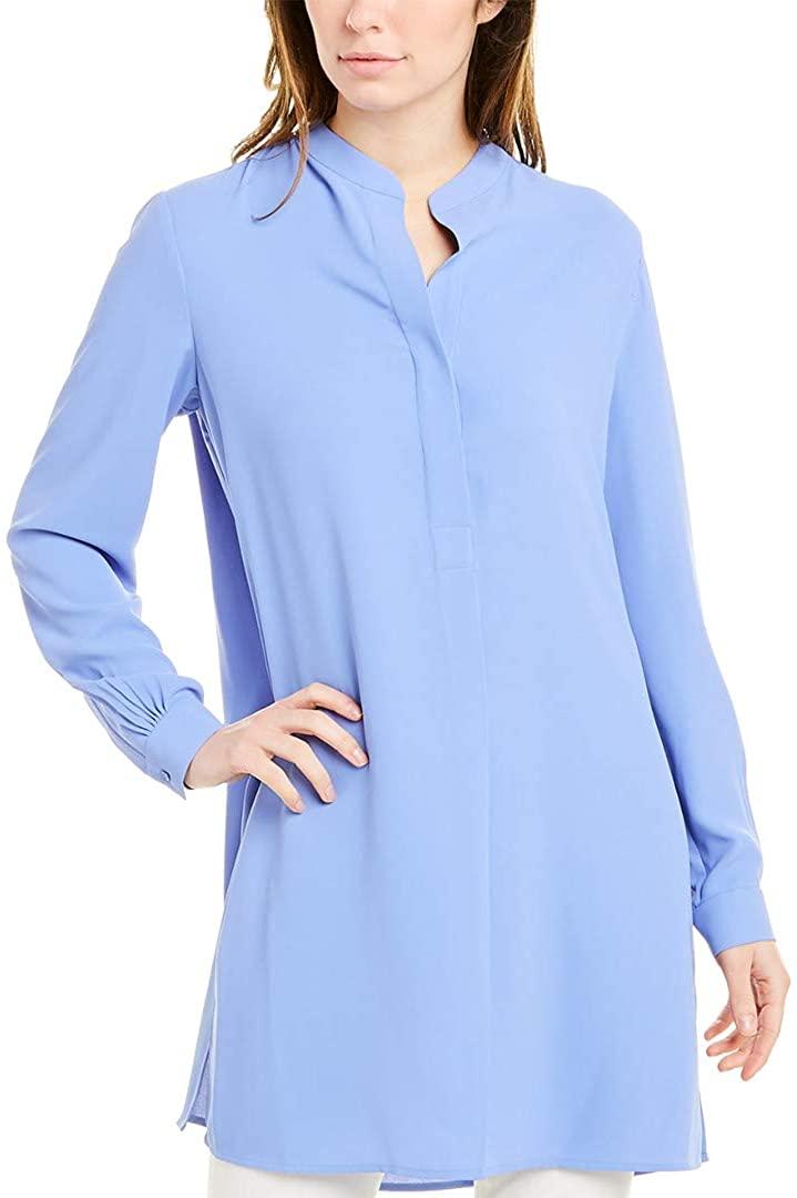Anne Klein Women's Split Neck Long Tunic Blouse