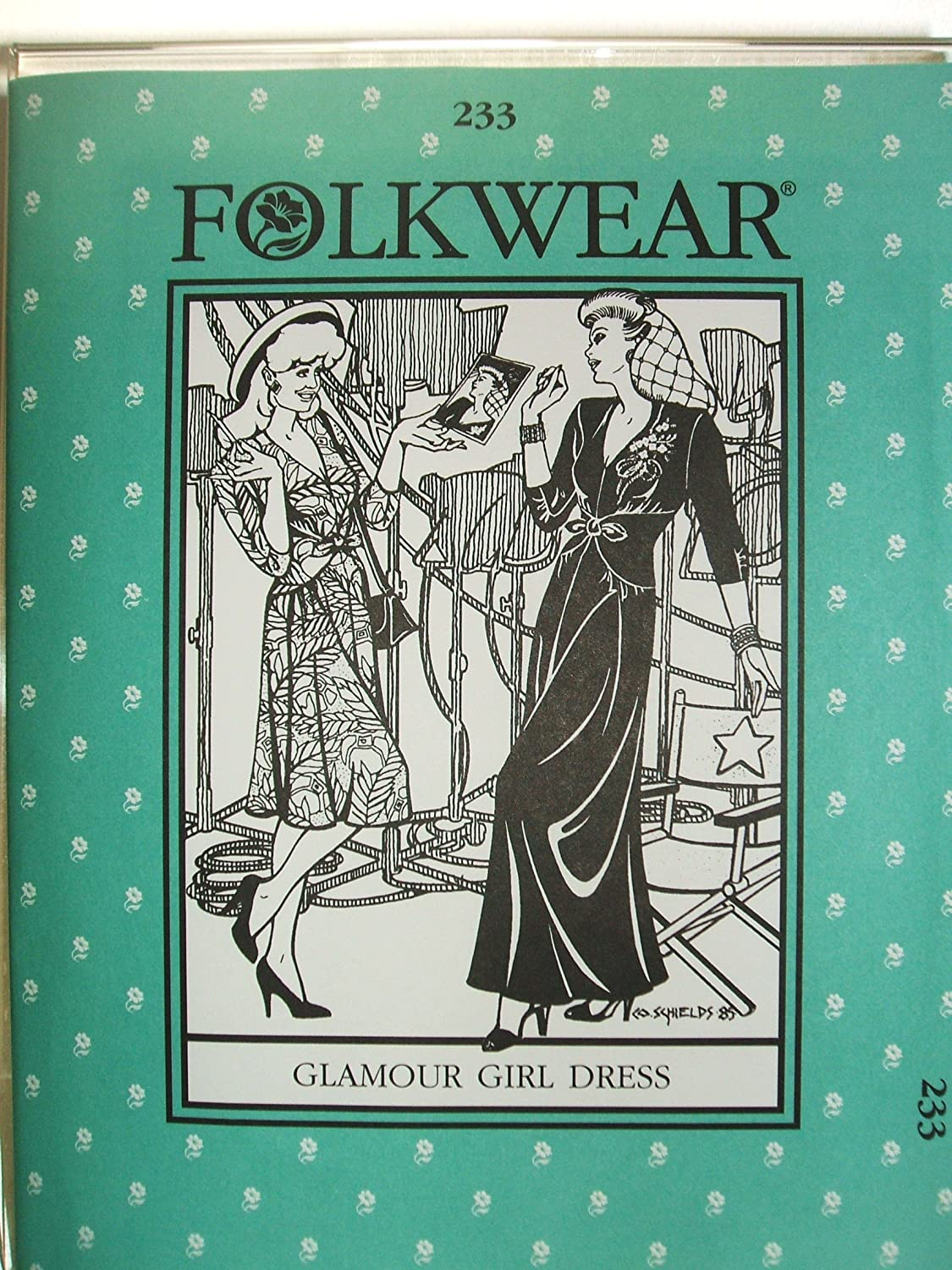 Folkwear #233 Glamour Girl Dress 1930's 1940's Hollywood Sewing Costume Pattern