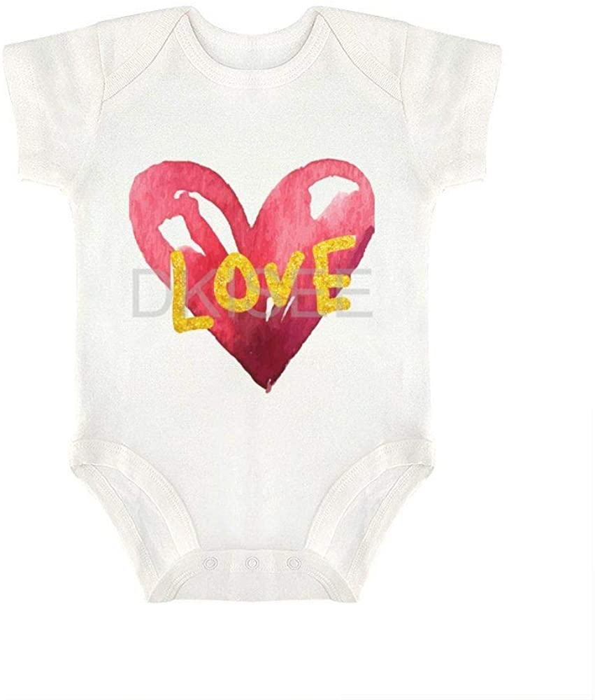 DKISEE Comfortable Baby Boys Girls Romper Jumpsuit Heart Pattern51 Short Sleeve Bodysuits Infant Funny Onesies Bodysuits