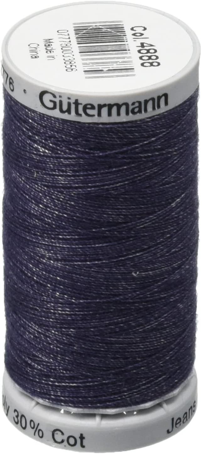 Gutermann Jeans Cotton Thread, 200m/219 yd, Indigo