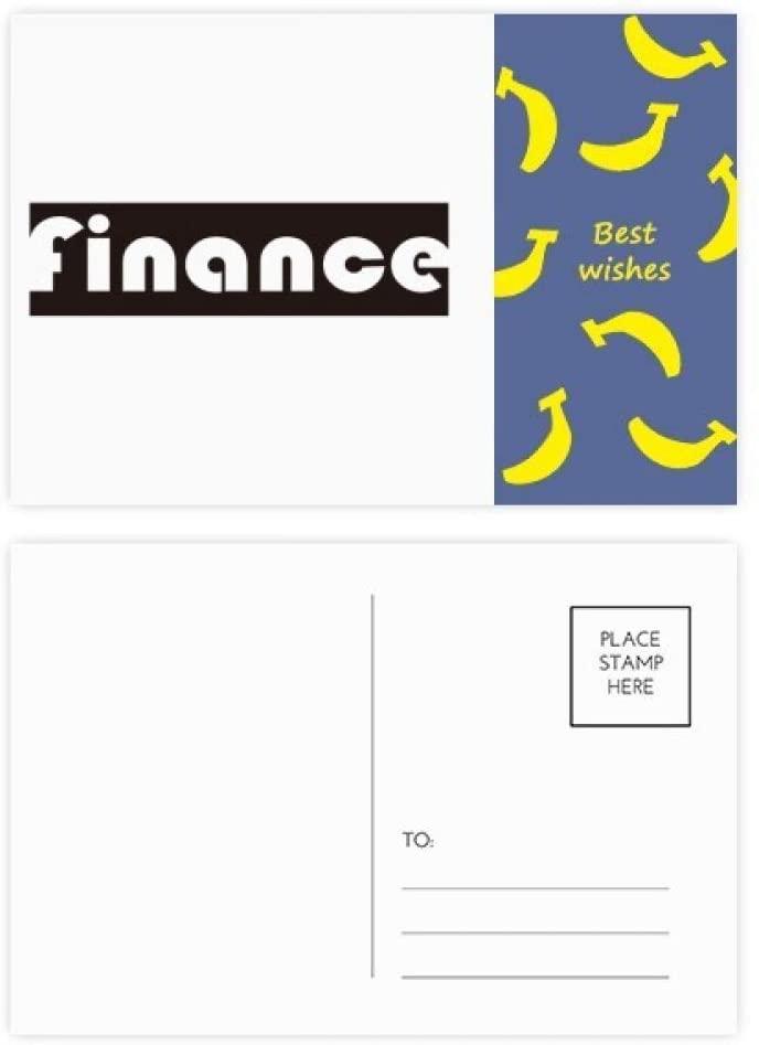 Course And Major Finance Black Banana Postcard Set Thanks Card Mailing Side 20pcs