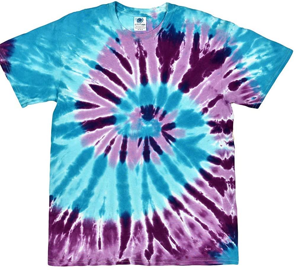 Island Tie Dye Shirt Colorful Multi Color Barbados Spiral T-Shirt
