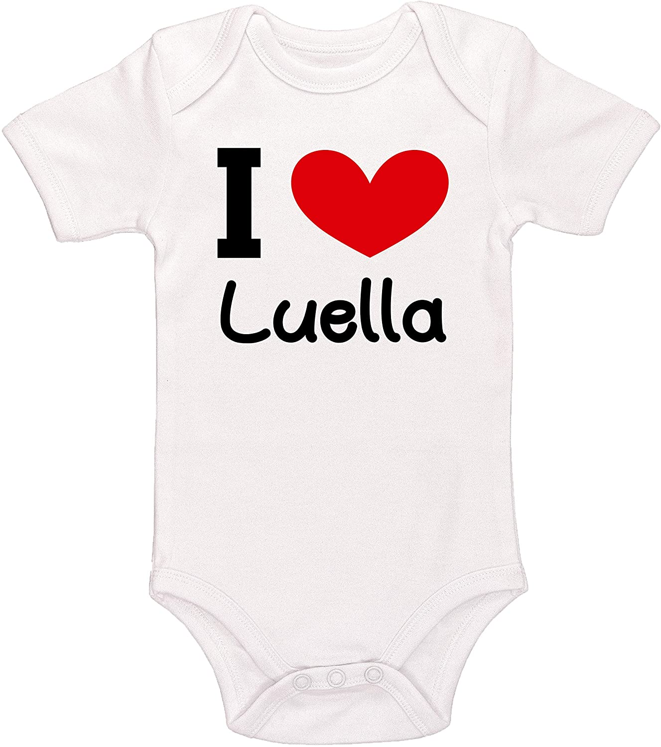 Kinacle I Love Luella Personalized Baby Bodysuit