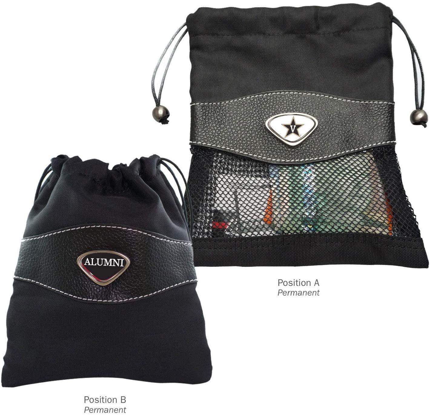 AdSpec NCAA Vanderbilt Commodores Collegiate Valuables BagCollegiate Valuables Bag, Black, One Size