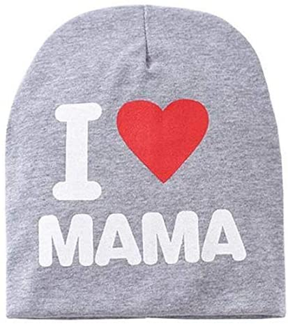 I Love Mama Beanie Gray I Love Mama One Size