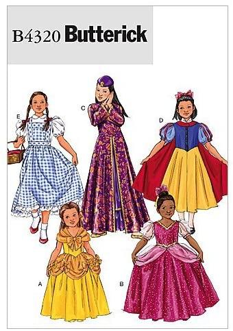 Berwick B4320 Girls Princess Dress Halloween Costume Sewing Patterns, Sizes 7-14