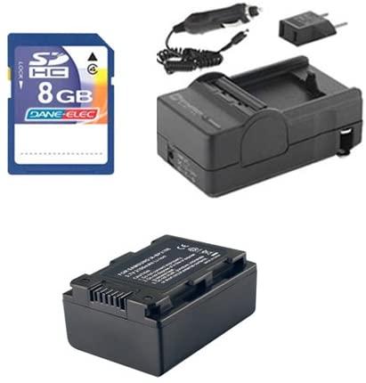 Samsung HMX-F90BNXAA Camcorder Accessory Kit Includes: SDIABP210E Battery, SDM-1524 Charger, KSD48GB Memory Card