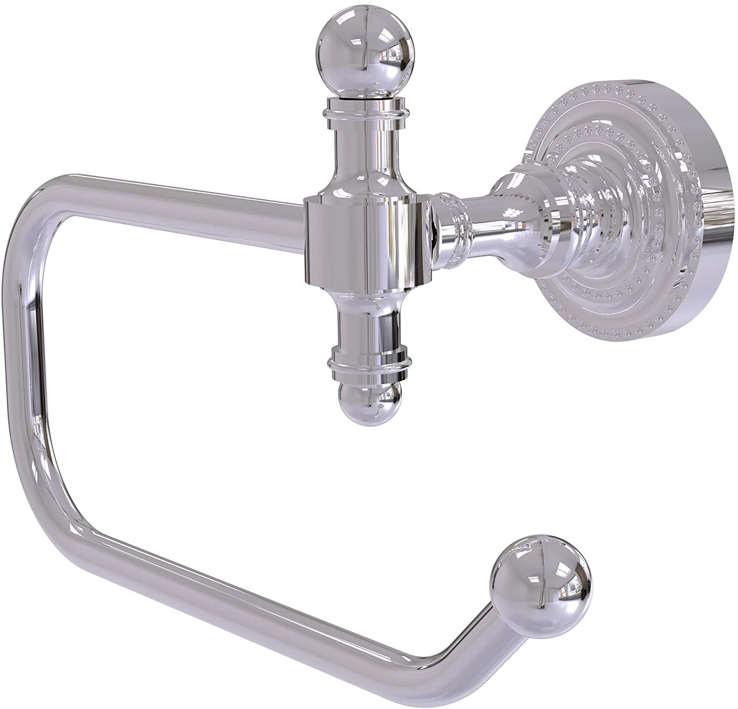Allied Brass RD-24E-PC Retro Dot Collection European Style Tissue Toilet Paper Holder, Polished Chrome