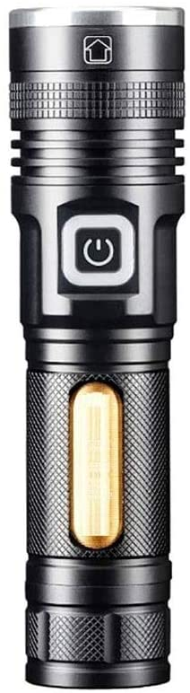 KUI RFSTGYU Rechargeable Flashlight,LED Flashlight,5 Modes Zoomable, Waterproof, with Rechargeable Battery, Handheld Mini Torch, Handheld Light, for Camping, Outdoor, Emergency, Everyday Flashlights