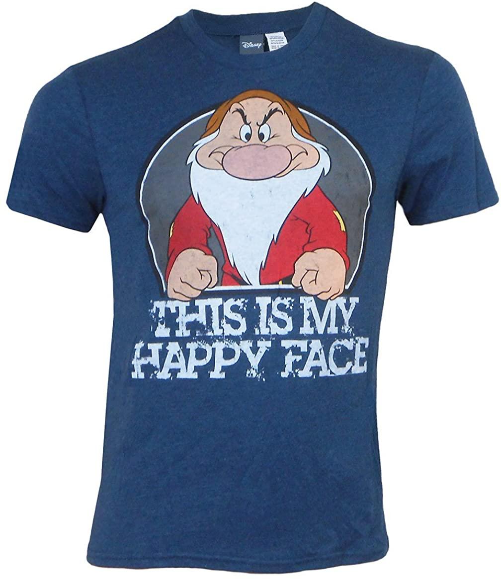Disney Grumpy Mens Happy Face T-Shirt