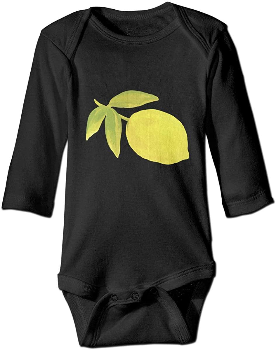 YOIGNG Lemon Unisex Baby Bodysuit Infant Cotton Outfits Long Sleeve Jumpsuit