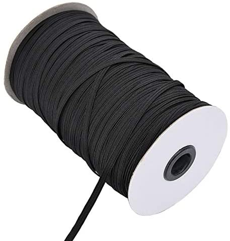 10M 3mm 6mm Rubber Band for Sewing Elastic 8/10/12MM White Black High Elastic Bands Flat Waist Band Sewing Garment Rope for DIY Mask - Black - 3mm