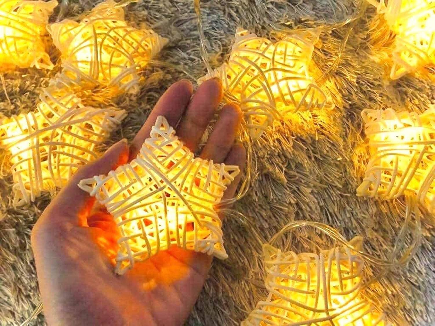 Star String Lights Christmas Decoration Fairy String Lights Battery Operated 20 LED Christmas Décor Indoor Outdoor Home Garden Festival Wedding Party Starry Lighting