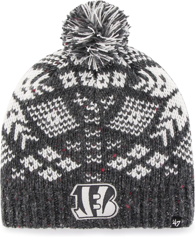 '47 NFL Cincinnati Bengals Women's Georgie Knit Beanie, One Size, Charcoal
