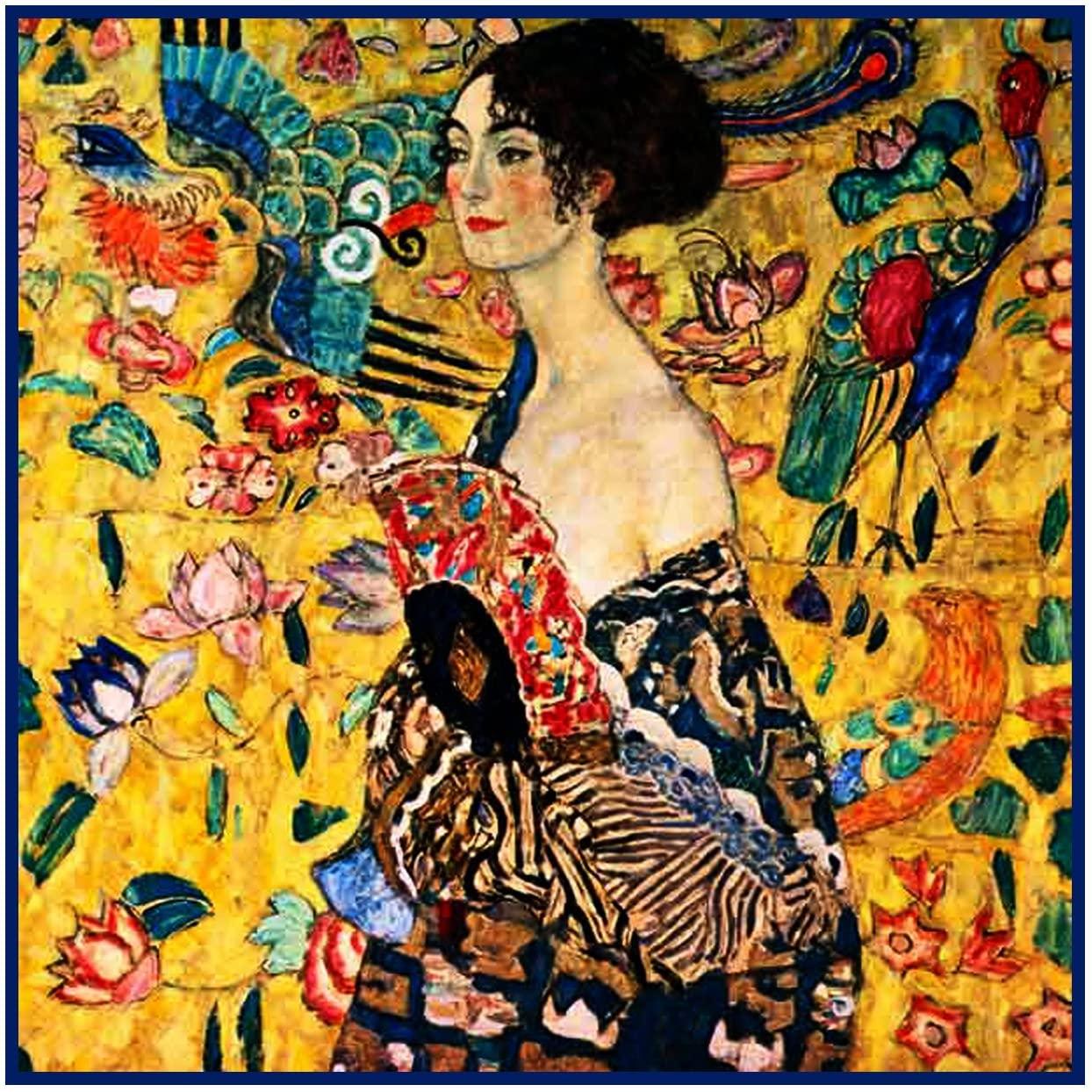 Orenco Originals Woman a Fan Gustav Klimt Counted Cross Stitch Pattern