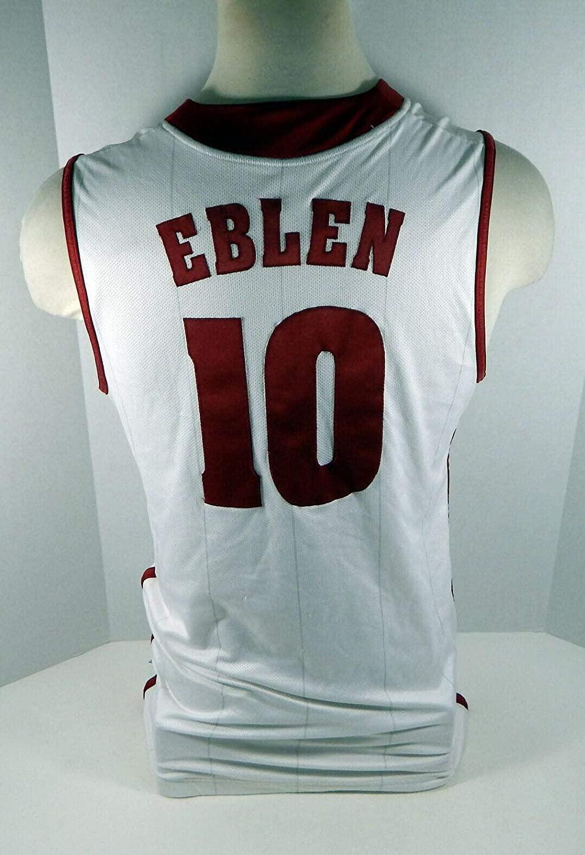 2010-11 Alabama Crimson Tide Ben Eblen #10 Game Used White Jersey BAMA00223 - College Game Used