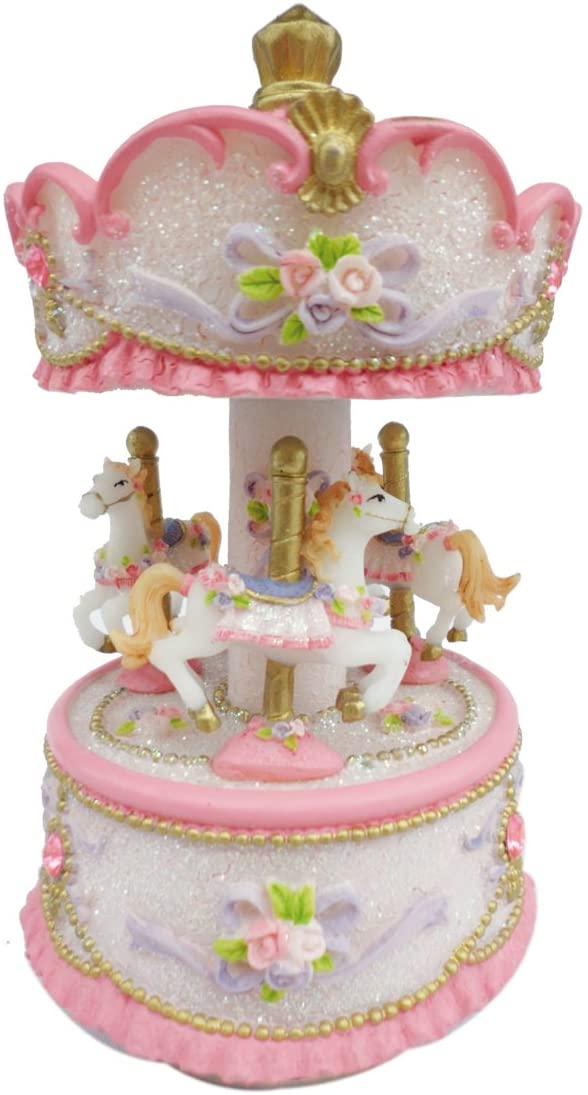MusicBox Kingdom 14230 140mm Carousel Music Box Playing