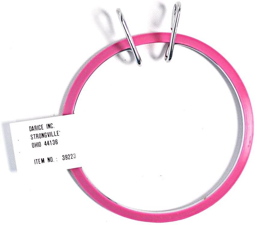 Darice Spring Tension Pink Embroidery Hoop 5 Inch