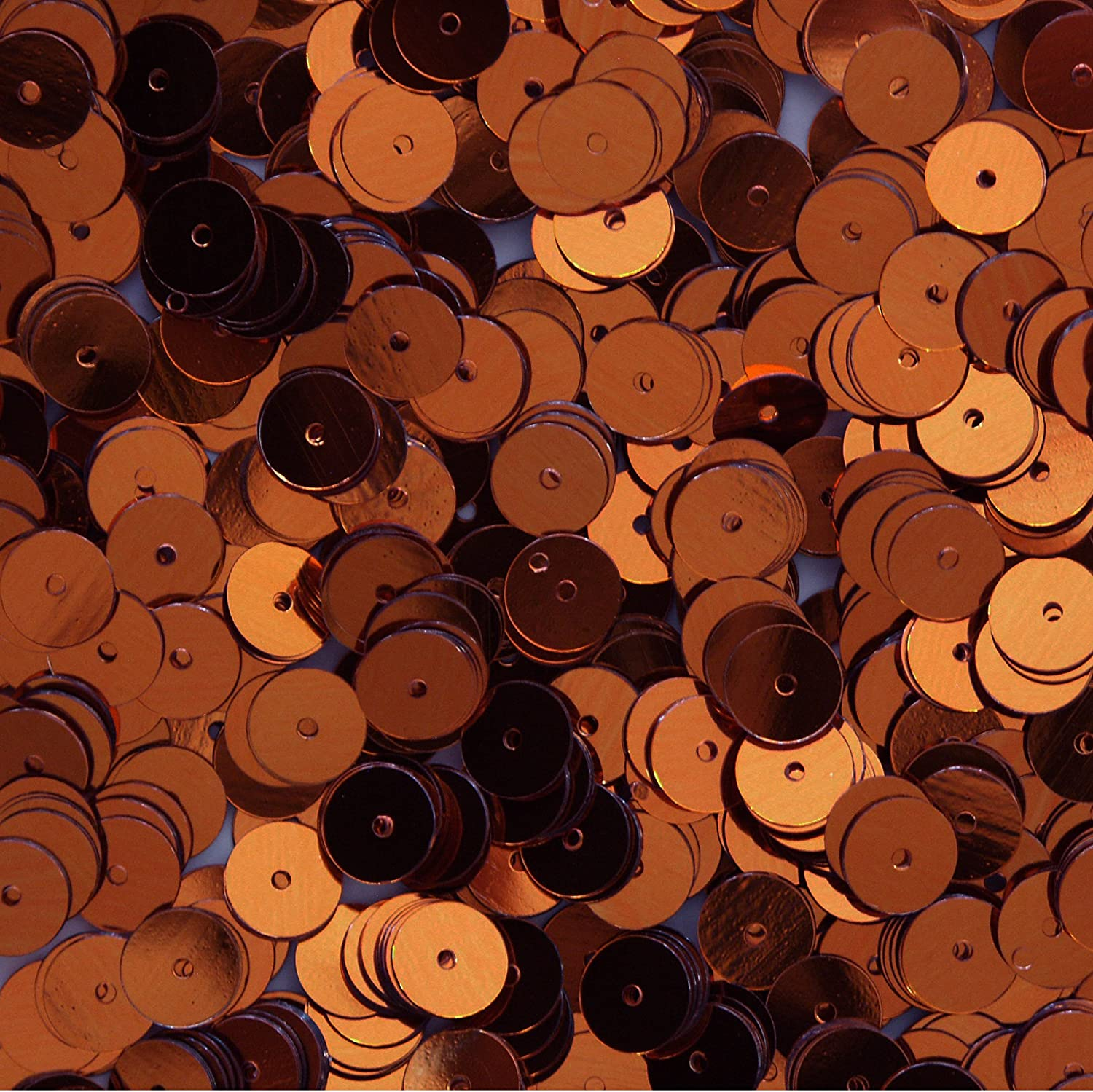 8mm Flat Sequins Bronze Loose sequinsMade in USA Mad