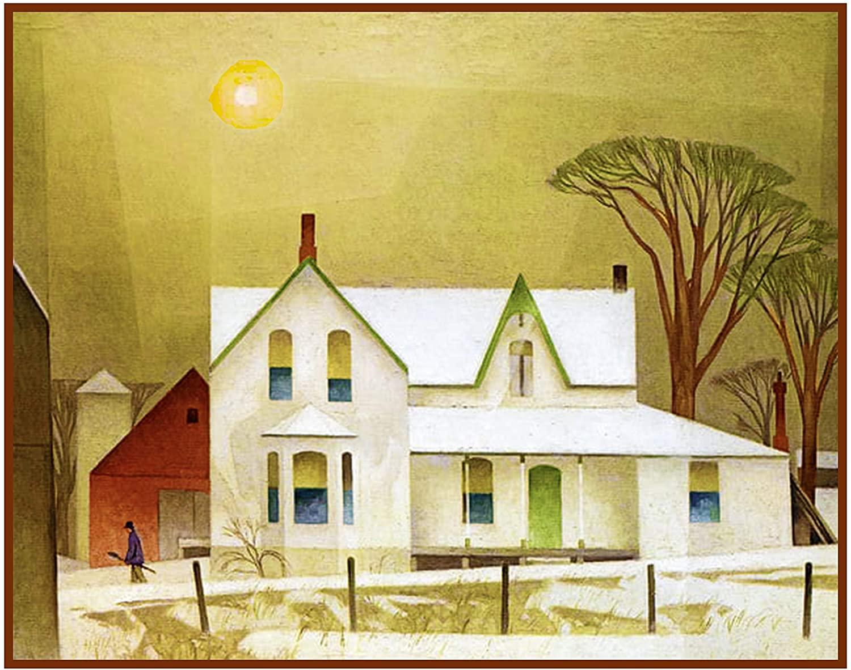 Orenco Originals AJ Casson Winter Sun Farm House Ontario Counted Cross Stitch Pattern