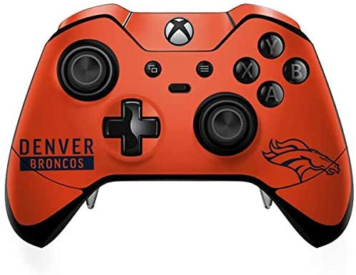Skinit Decal Gaming Skin for Xbox One Elite Controller - Officially Licensed NFL Denver Broncos Orange Performance Series Design
