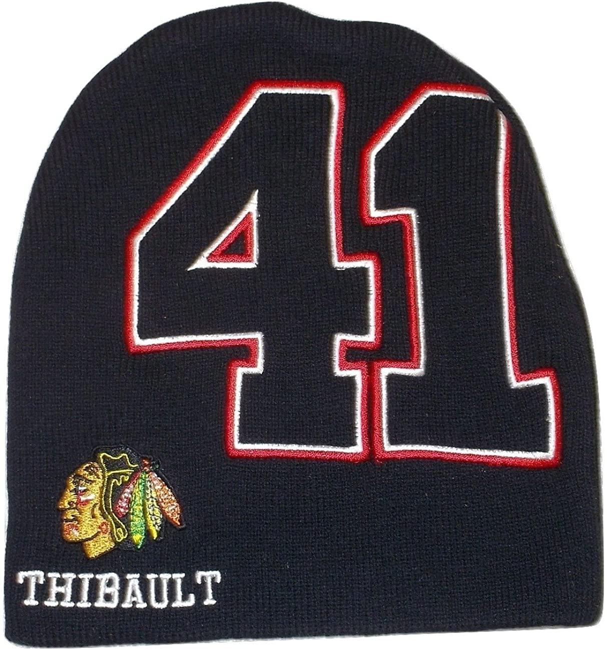 Chicago Blackhawks NHL Beanie Toque Cuffess Knit Hat Cap #41 Thibault Youth