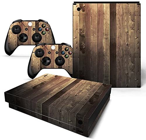 Xinvision Body Vinly Wrap Cover Protective Sticker Skin Decal #0814 for Microsoft Xbox One X Console and Controllers (2017 Release)