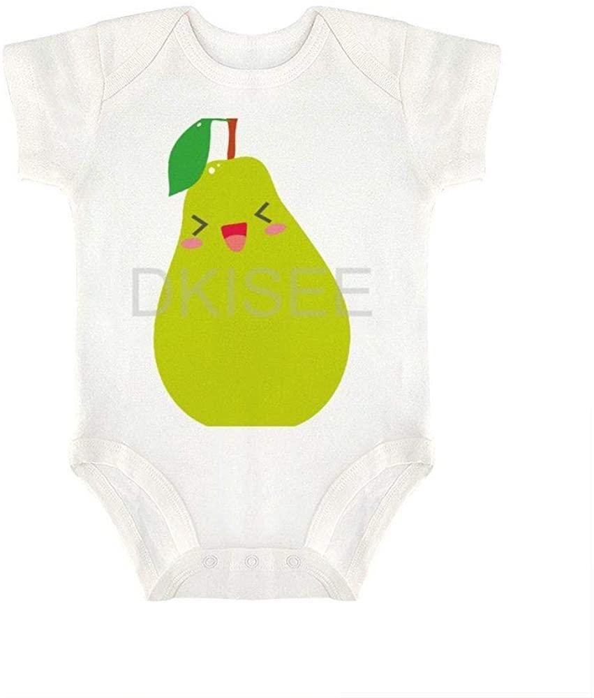 DKISEE Comfortable Baby Boys Girls Romper Jumpsuit Cute Pear Short Sleeve Bodysuits Infant Funny Onesies Bodysuits