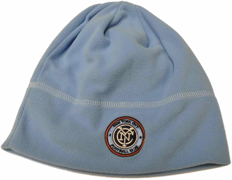 Mitchell & Ness New York City FC MLS Baby Blue Fleece Hat Cap Beanie