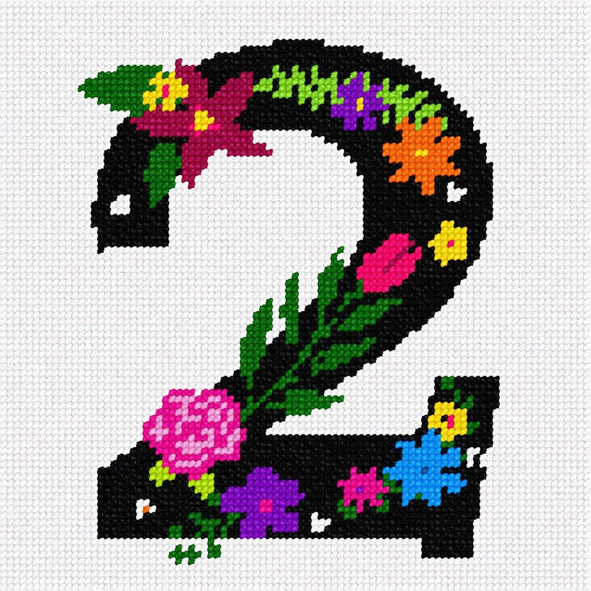 pepita Number Two Primary Floral Needlepoint Kit