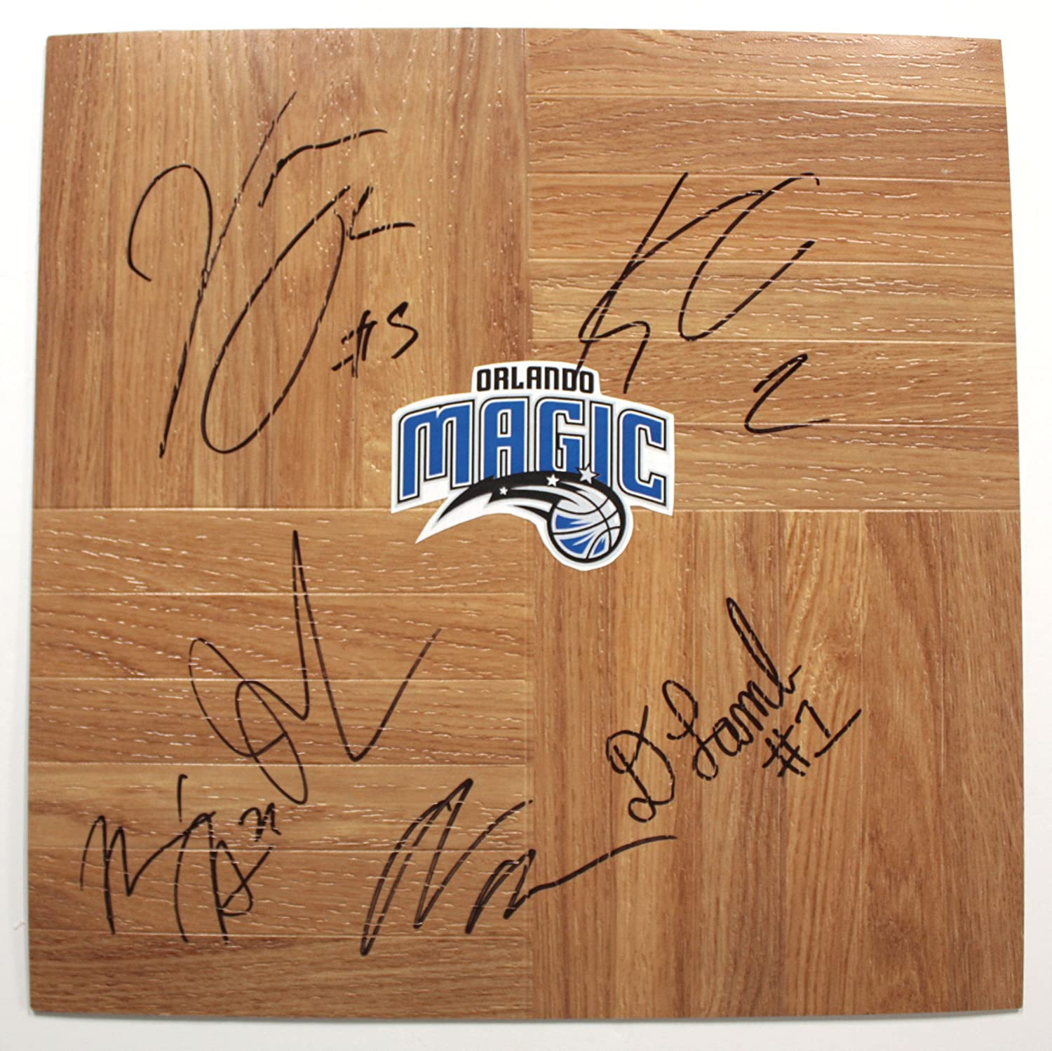 Orlando Magic 2013-14 Team Autographed Signed Basketball Floorboard Victor Oladipo
