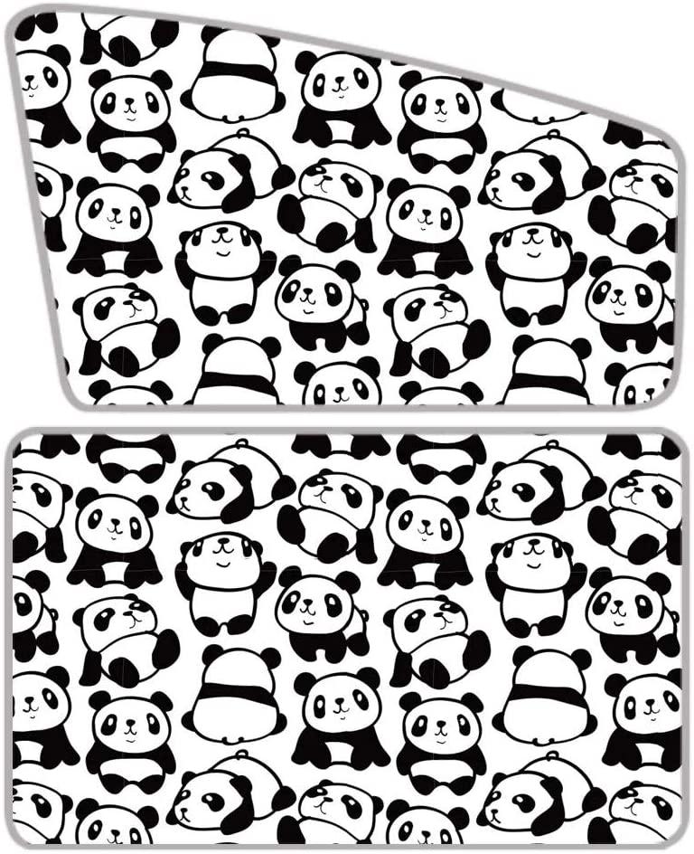 WELLFLYHOM Kawaii Panda Car Side Window Sun Shade for Toddler Baby Childrfen Magnetic Curtain Blocks Uv Rays Sun Visor Protector Set of 2 Auto Sunshade Windshield Truck SUV Car Van