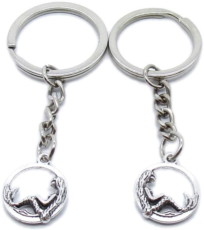 50 Pieces Keyring Keychain Wholesale Suppliers Jewelry Clasps RC0F1J Mermaid