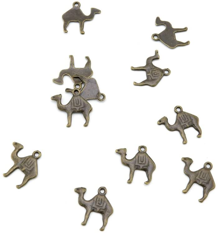 440 Pieces Jewelry Making Charms D6OO8 Camel Findings Antique Brass Retro DIY Vintage Supply Supplies Craft