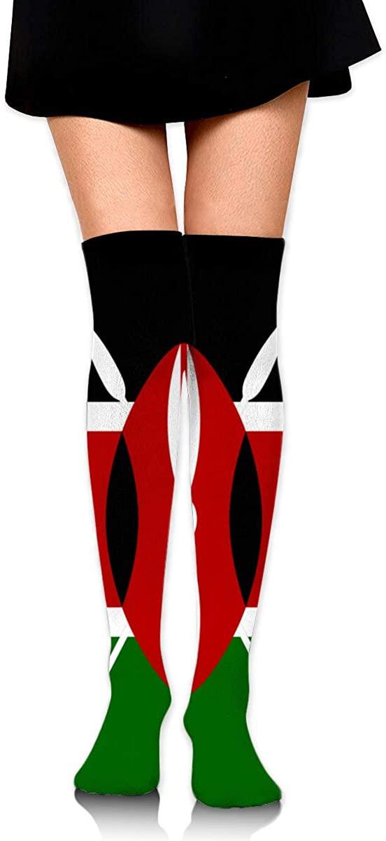 Knee High Socks Flag Of Kenya Women's Athletic Over Thigh Long Stockings