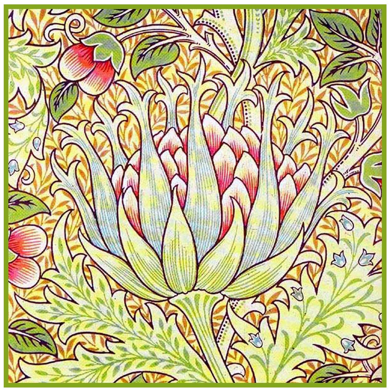 Orenco Originals Artichoke by William Morris Counted Cross Stitch Pattern