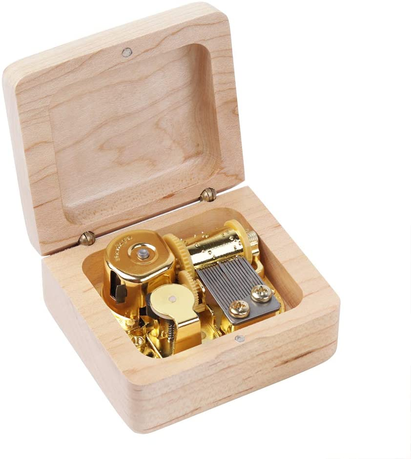 ARTISANS HOUSE Wood Material Music Box is Used to Play Sky City Music Festival Gift (Maple Wood Color)