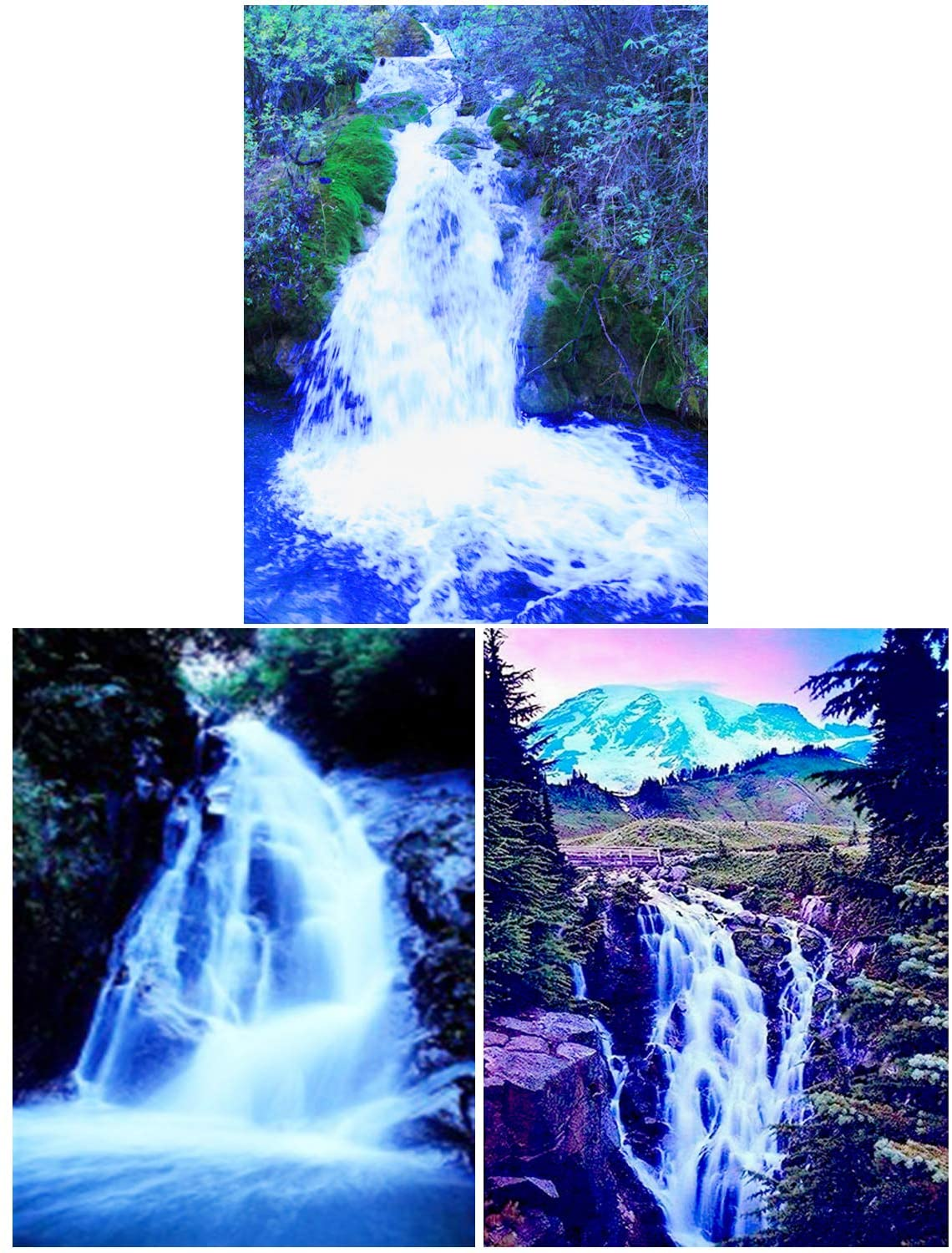 HaiMay 3 Pieces DIY 5D Diamond Painting Kits for Adults Paint by Number Kits Full Drill Painting Diamond Pictures Arts Craft for Wall Decoration,Waterfall Style (10 x 12 inches)