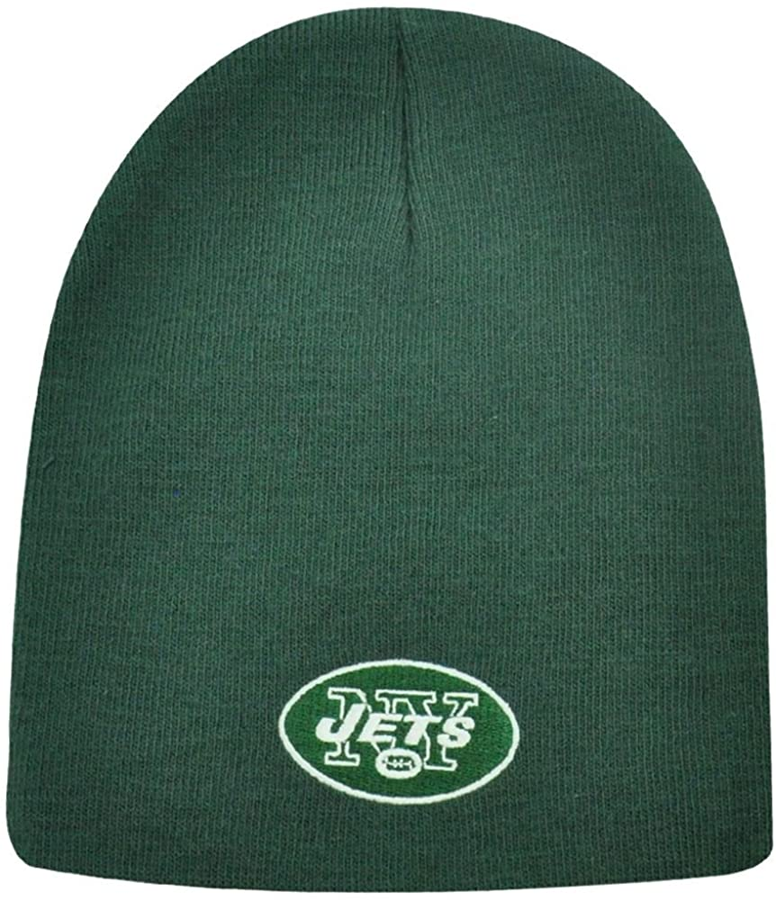 New York Jets Cuffless Beanie Knit Hat, Green New, Nfl