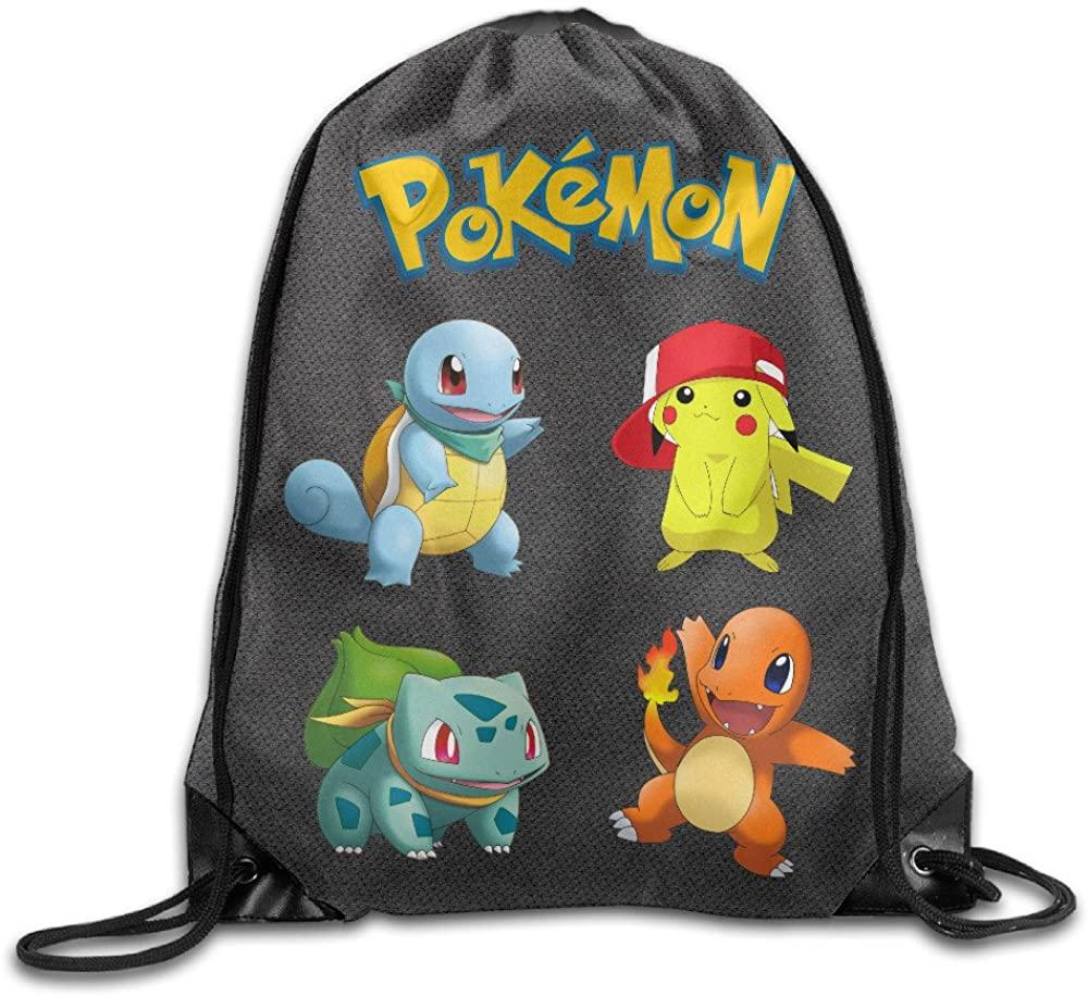 FFVS Bags Poke mon No Kings Sack Bag Drawstring Backpack Sport Bag