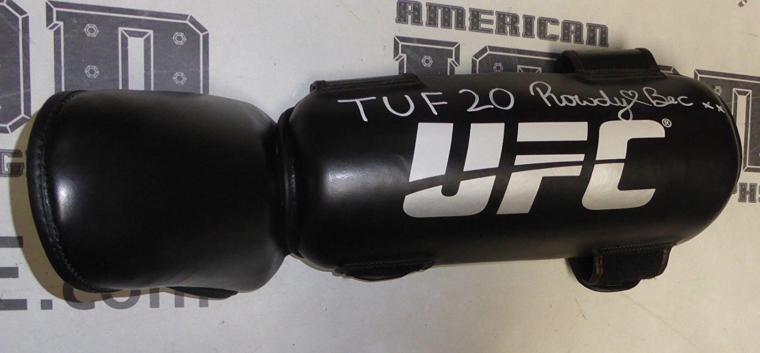 Rowdy Bec Rawlings Signed Personally Worn Used TUF 20 UFC Kick Pad PSA/DNA Auto - Autographed UFC Miscellaneous Products