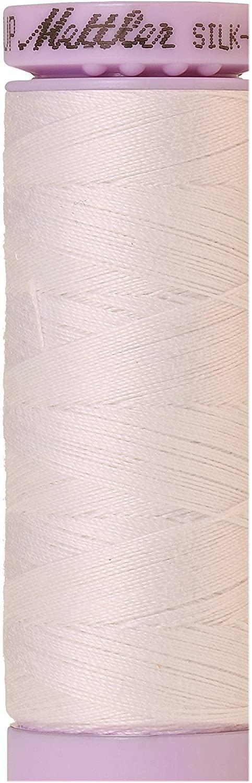Mettler Silk-Finish 50 Weight Solid Cotton Thread, 164 yd/150m, White